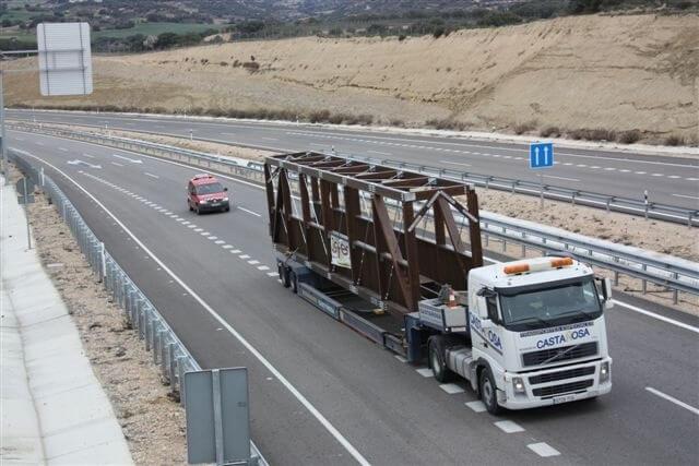 transporte pasarela madera