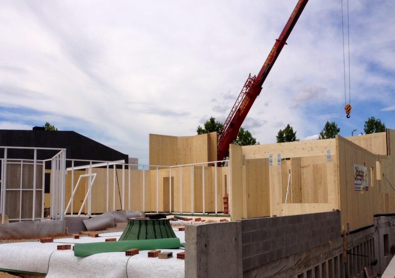 vivienda de madera montaje