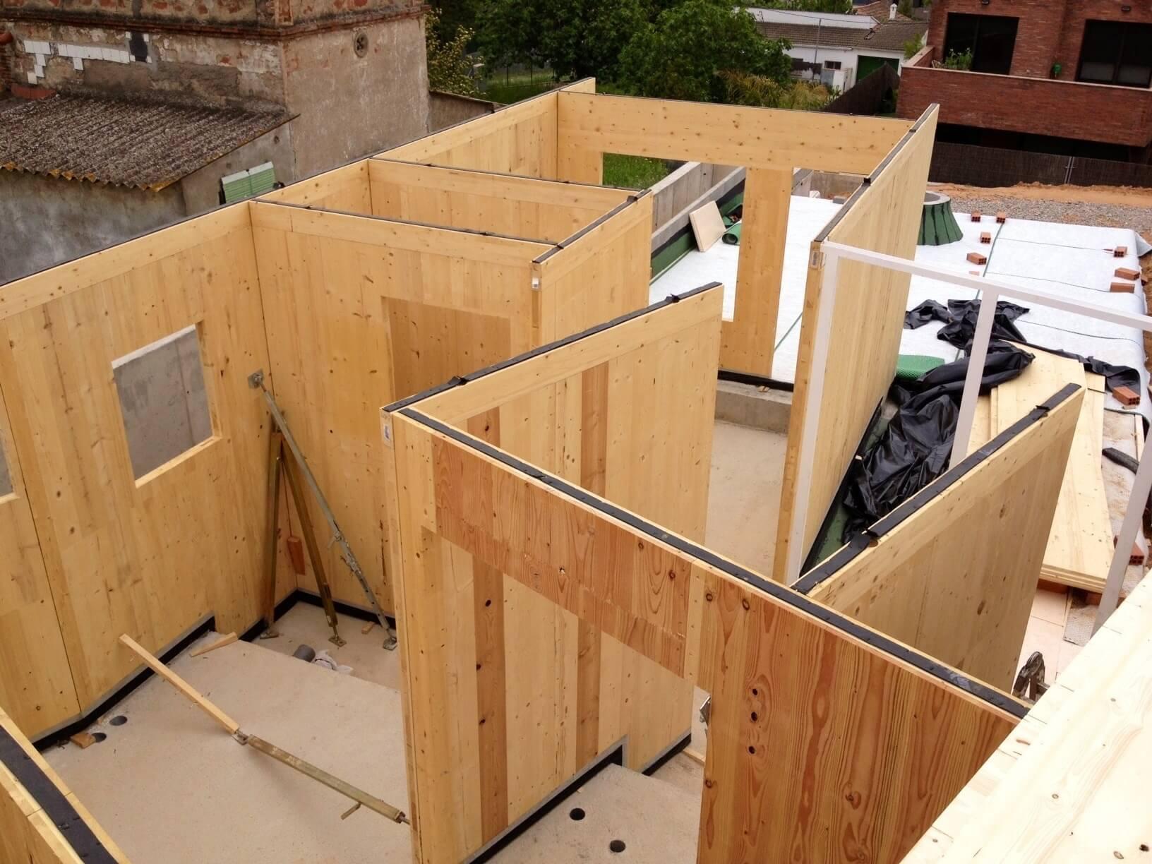 vivienda de madera estructura