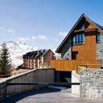 Esctructura para cubricion acceso a garajes. Formigal (Huesca)
